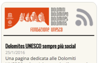 Dolomiti UNESCO feed screenshot