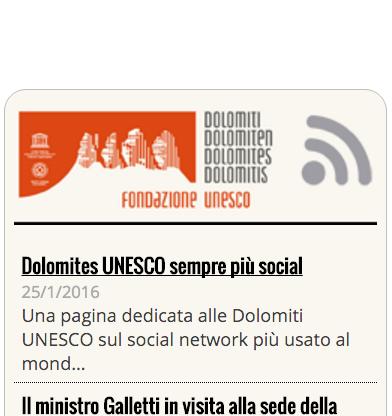 Dolomiti UNESCO feed screenshot