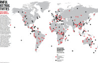 MAP OF THREATENED NATURAL AND MIXED WORLD HERITAGE SITES