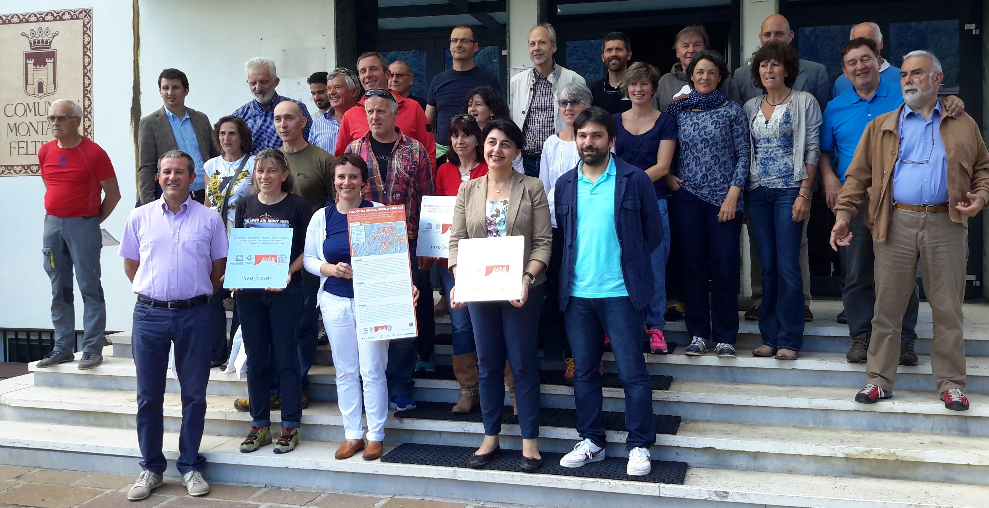 Partecipanti al progetto Rifugi delle Dolomiti UNESCO