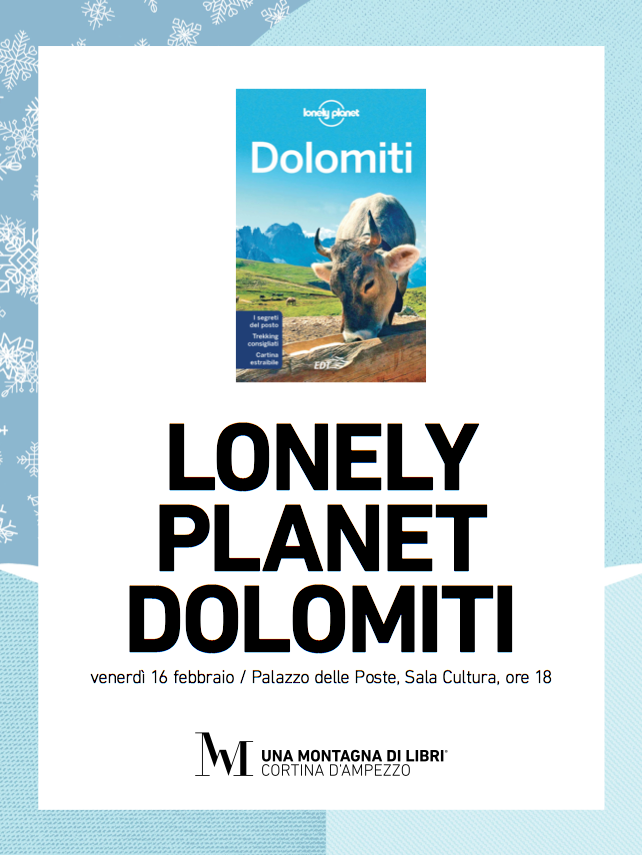 lonely planet cortina una montagna di libri