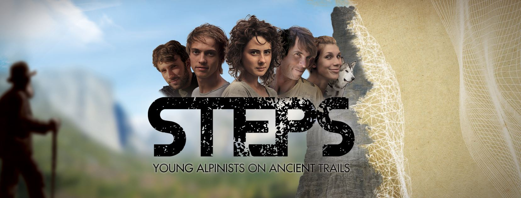 steps young alpinists on ancient trails