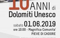 10 ANNI DOLOMITI UNESCO PIEVE DI CADORE