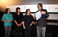 67¡ TRENTO FILM FESTIVAL Montagne e CultureMARCELLA MORANDINI ( Presidente Fondazione Dolomiti UNESCO) ed ANNA FACCHINI (Presidente SAT) consegnano il  Premio DOLOMITI PATRIMONIO MONDIALE UNESCO a  FRANCESCO FEI regista de: LA REGINA DI CASETTA