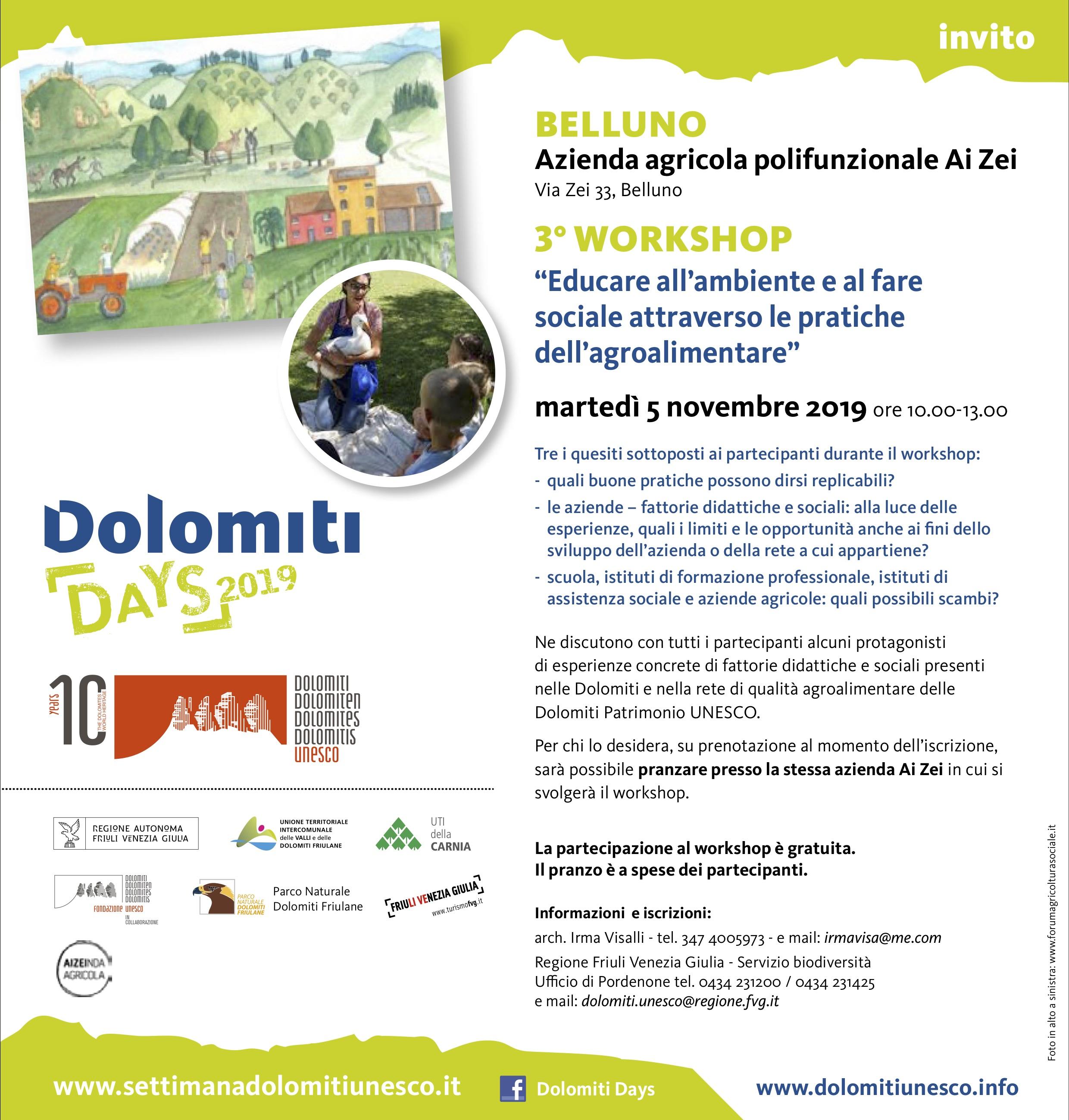 Dolomiti days 2019 workshop 5_11 Belluno