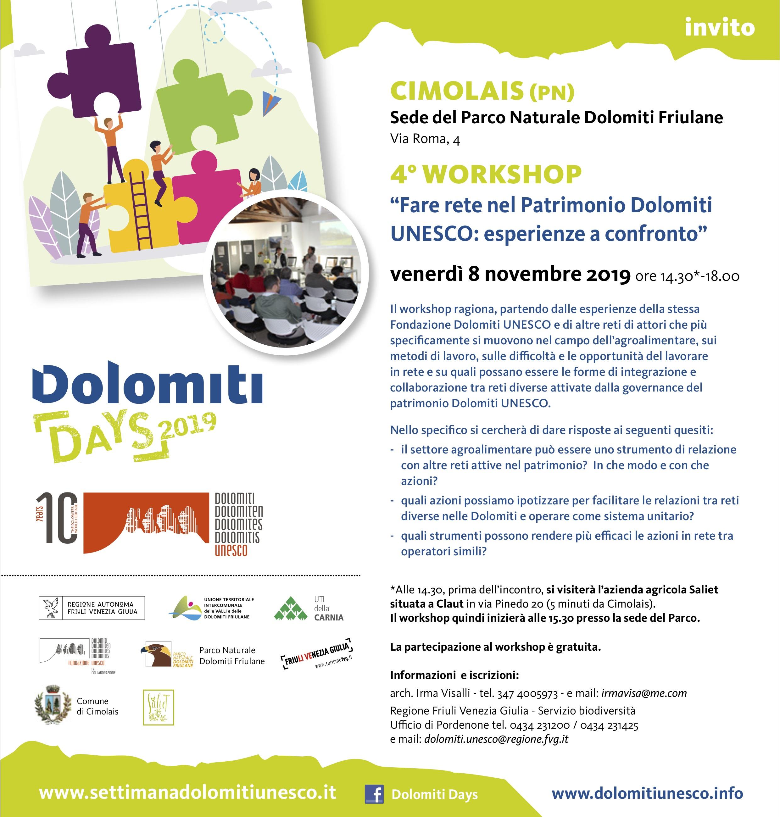 Dolomiti days 2019 workshop 8_11 Cimolais